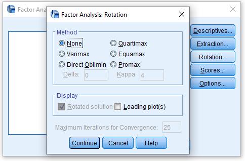 تحلیل عاملی اکتشافی (Rotation)